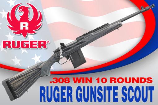 RUGER GUNSITE SCOUT  308 WIN